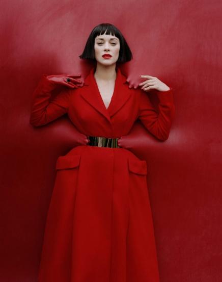 Abrigo y cinturón de Dior alta costura