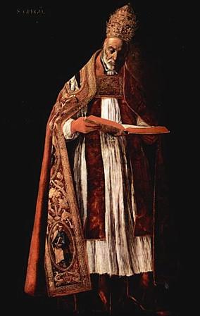 Gregorio I papa Francisco_de_Zurbaran