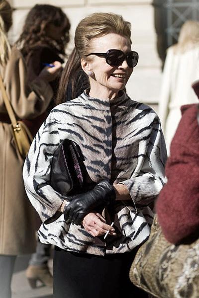 Lee Radziwill en la semana de la moda de París