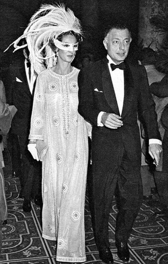 Gianni y Marella Agnelli llegando a la fiesta